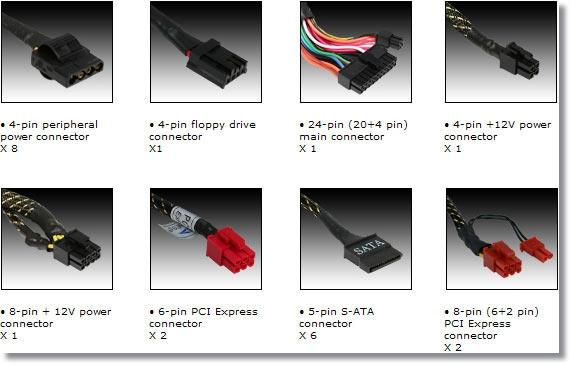 Jenis-jenis konektor umum pada PSU
