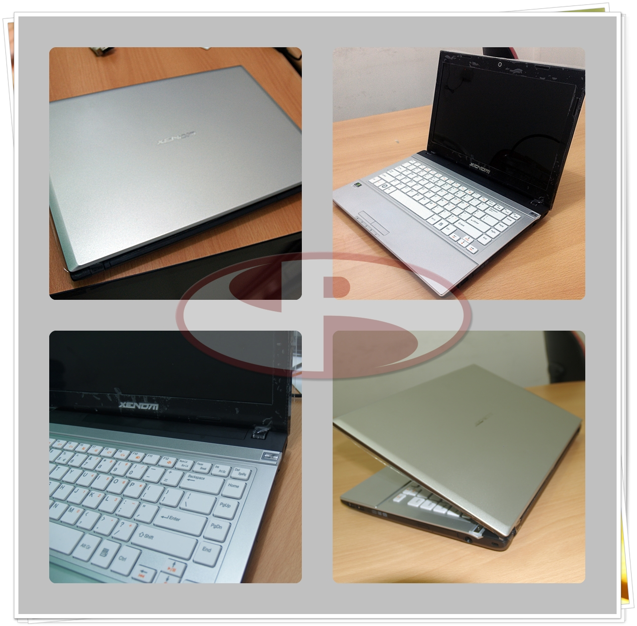 Perpaduan Silver, hitam dan putih pada keyboard menguatkan kesan simple dan elegan.