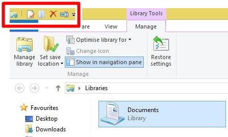 Manfaatkan Quick Acces Toolbar untuk fungsi jalan pintas.