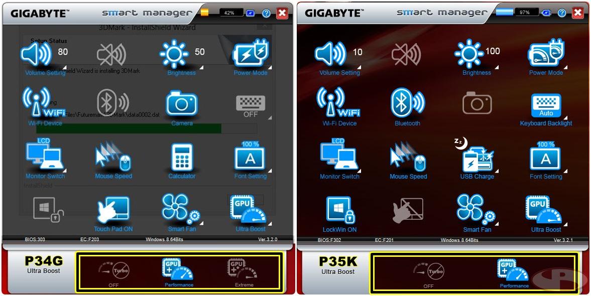 Perbedaan versi Smart Manager antara P34G dan P35K. Why?