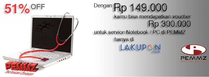 promo service laptop