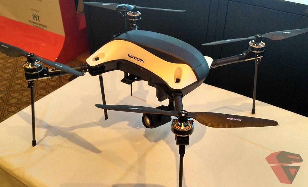 Drone yang dilengkapi smart camera dari HIK Vision