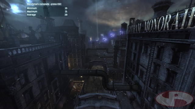 Arkham City Integrated Benchmark Result. 1280x720 DX9