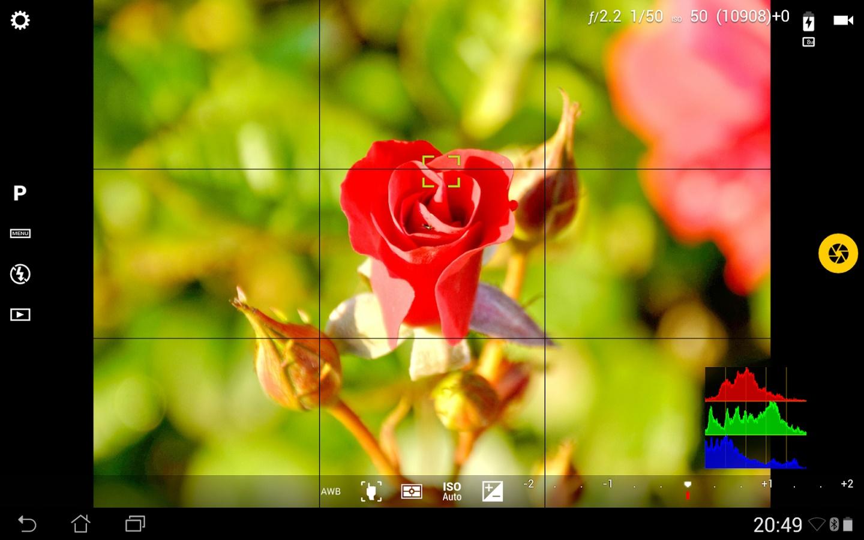 Camera FV-5 setting control aplication