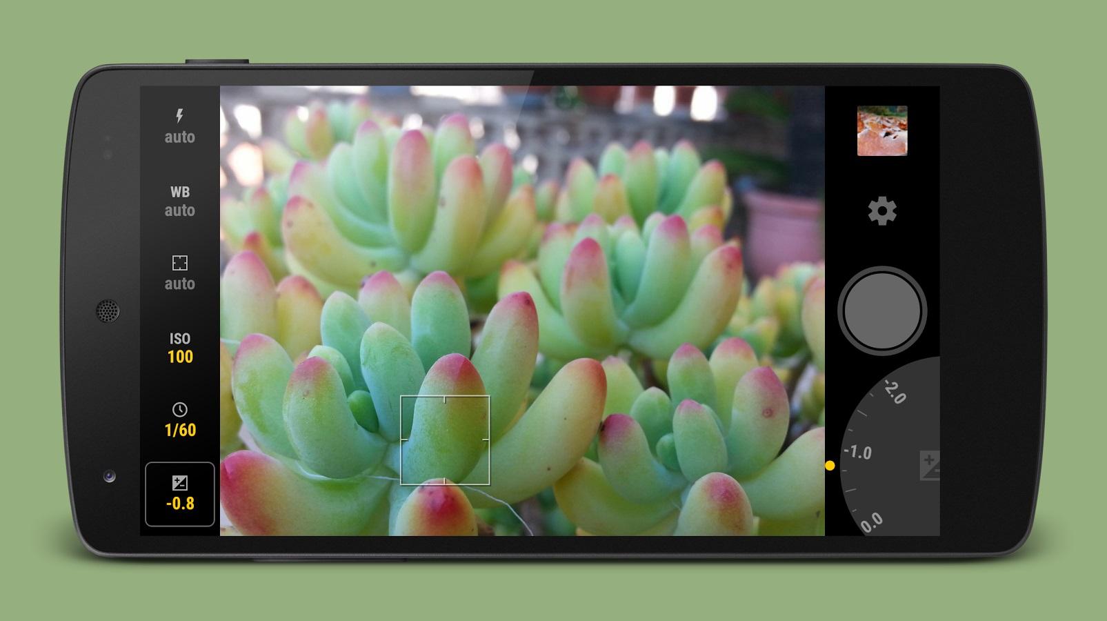 Manual Camera setting control aplication