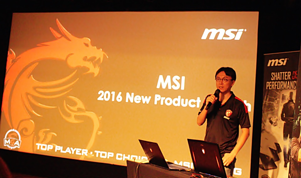 Laptop Gaming MSI GTX 10 presentation