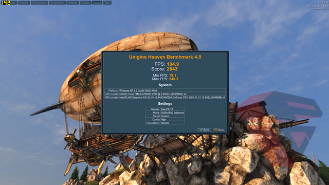 New Alienware 15 2016 GTX 1060 Unigine Heaven