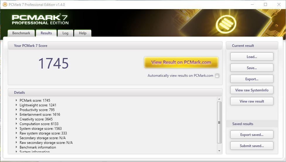 HP 14 BA002AX PCMark 7