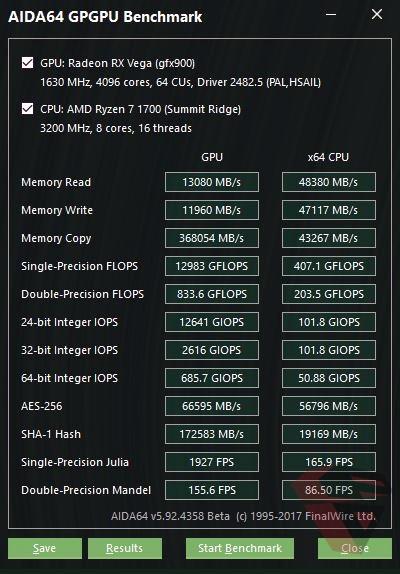 AMD Radeon RX VEGA 64 3D Mark FS Ultra AIDA64 GP-GPU