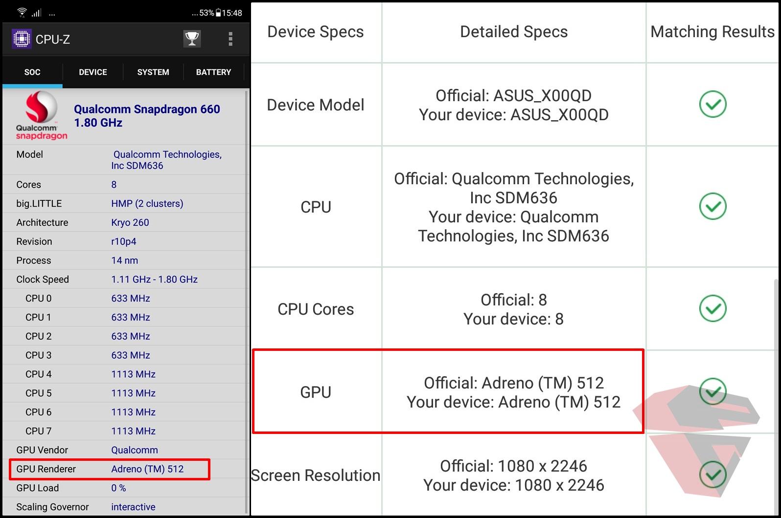 Review Asus Zenfone 5 ZE620KL GPU Info