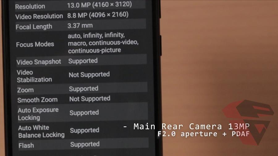 review Zenfone Max Pro M1 - Camera - Rear camera spec