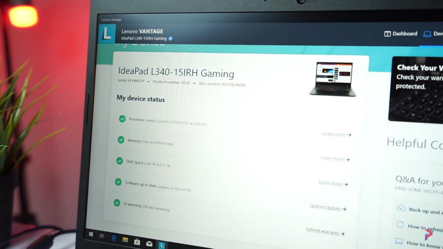 Review Lenovo Ideapad L340 Gaming Pemmzchannel