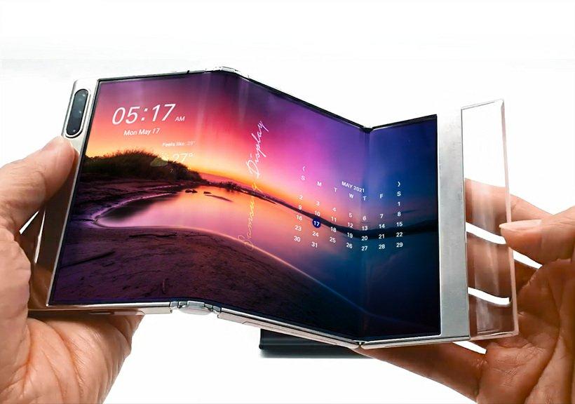 Samsung Display Pamerkan Layar Terlipat Tiga Kali