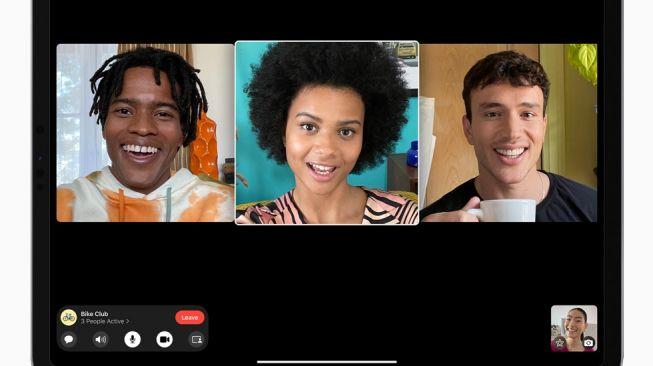 Face Time sebagai fitur baru iPadOS 15 yang memudahkan pengguna untuk berkomunikasi.