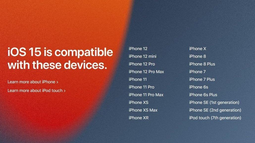 Pastikan fitur iOS 15 cocok di perangkat Apple Anda
