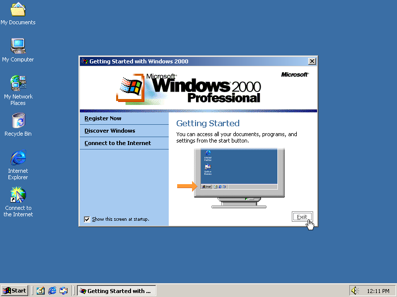 Sejarah Microsoft Windows 2000 untuk pengguna PC perusahaan