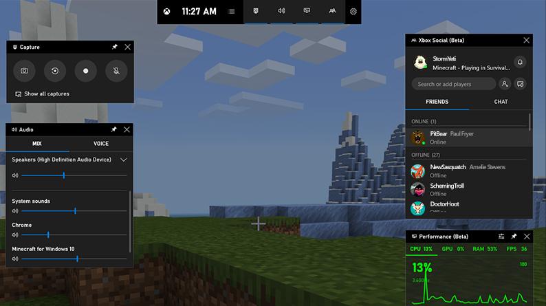 aplikasi rekam game terbaik, XBox Game Bar di Windows 10