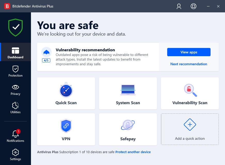 BitDefender Antivirus Plus, aplikasi antivirus terbaik 2021