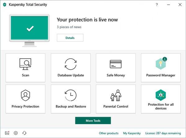 Kaspersky Total Security, aplikasi antivirus terbaik 2021