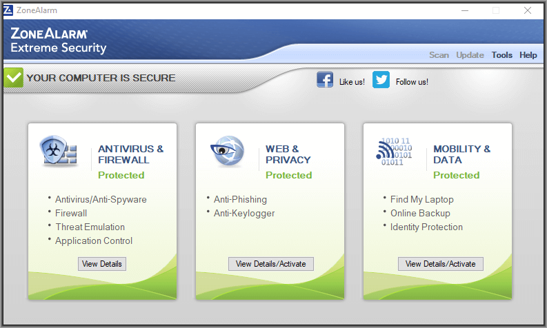 ZoneAlarm, aplikasi antivirus gratis