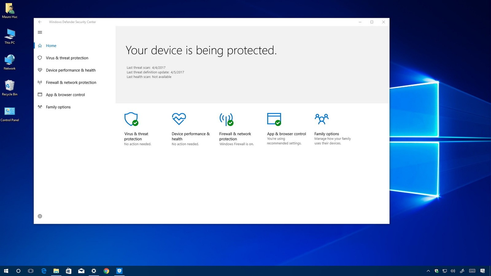 Windows Defender Firewall di Windows 10