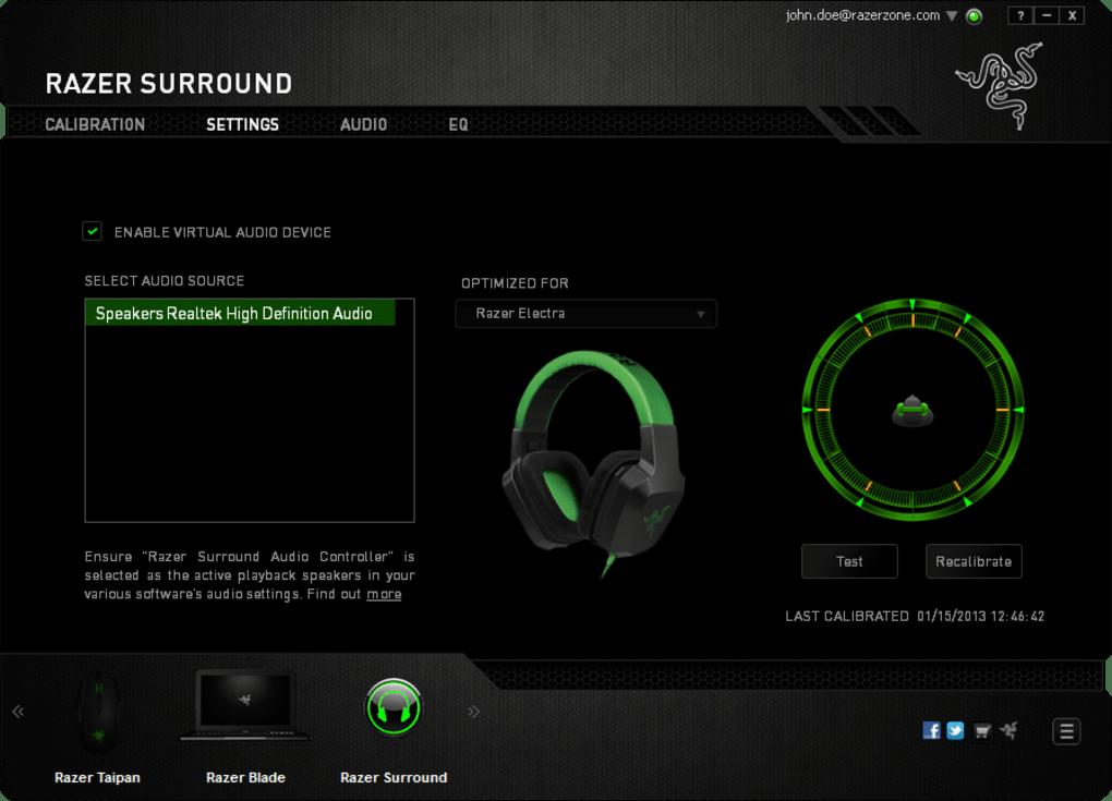 Razer Surround, aplikasi game booster terbaik